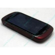 Красно-розовый телефон Alcatel One Touch 818