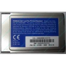 Сетевая карта 3COM Etherlink III 3C589D-TP (PCMCIA) без LAN кабеля (без хвоста)
